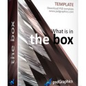 Abstract 3D Box PSD Template