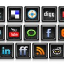 Black Social Media Icons PSD