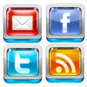 3D Social Media Icon Set PSD