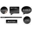 Black Carbon Fiber Elements For Web Design PSD