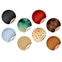 Blank Retro Round Stickers PSD Template