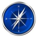 Blue Compass PSD Icon