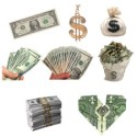 8 Transparent Money PNG Image Set