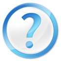 Blue Question Mark PSD Icon