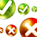 Round Yes, No PSD Icon Set