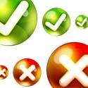 Round Yes, No PSD Icon Set