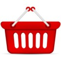 Red Shopping Basket PSD and Icon