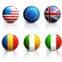 World Flag Icon Buttons