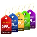 Glossy Sale Price Tags PSD
