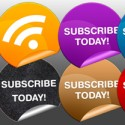 Round Subscribe to Feed Button Set