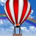 Red & White Hot Air Balloon