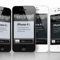 White and Black iPhone 4s Template