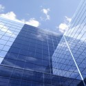 Modern Glass Building Background