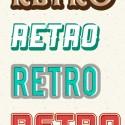8 Retro Photoshop Text Effects