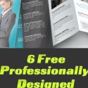 6 Free High Quality Customizable Brochure Templates