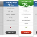 Photoshop Pricing Table Template