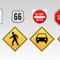 Traffic Sign Icon Set