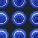 Blue Neon Social Icon Set