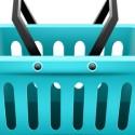 Blue Shopping Basket Icon