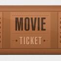 Retro Movie Ticket Icon PSD