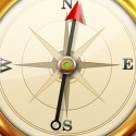 Modern Gold Compass Icon