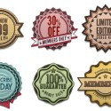 6 Editable Retro and Vintage Badges