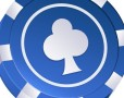 Blue Poker Chip Vector Icon