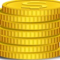 Gold Coins Icon Vector PSD