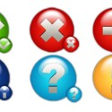 6 Round Status Icons