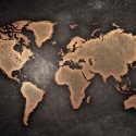 Old Grunge Style Map Background