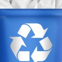 Blue Recycle Bin Icon (PSD)