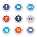 Round Social Media Icon Set