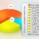 3D Pie Chart Design for Photoshop