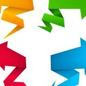 Origami Arrows PSD Vector