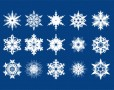 Snowflake Shapes and Pattern Set