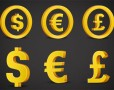3D Currency Symbols (PSD)