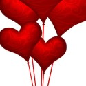 Red Heart Shaped Balloons (PSD)