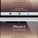 iPhone 5 Landscape Mockup For Photoshop