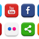 High Quality Social Media Icon Set
