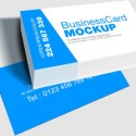Blue, White Business Card Template (PSD)