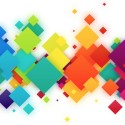 Colorful Abstract Squares Background