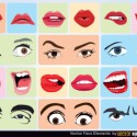 Vector Face Expression Elements