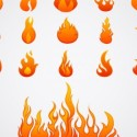 Vector Flame Design Elements
