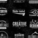 Typographic Vector label set