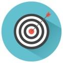Bullseye Arrow & Target Graphic