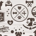Pet Grooming Icon Set Vectors