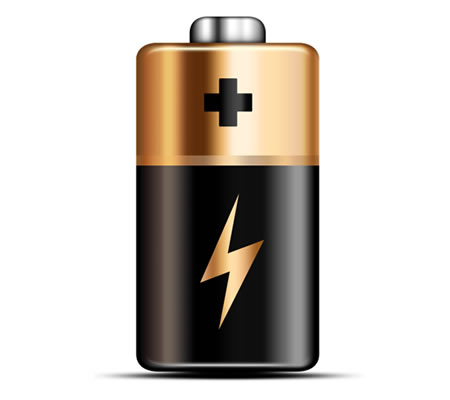 Realistic Battery PSD Icon