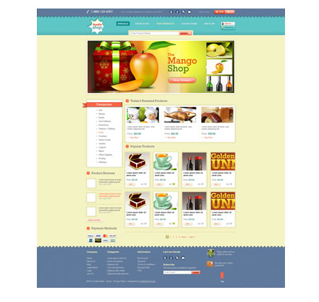 eCommerce PSD Website Template