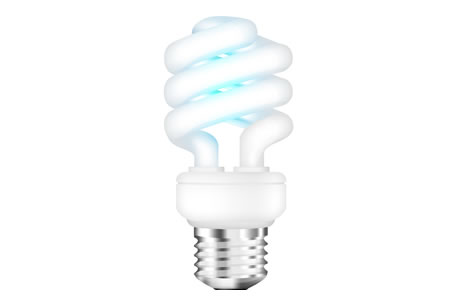 Fluorescent light bulb PSD