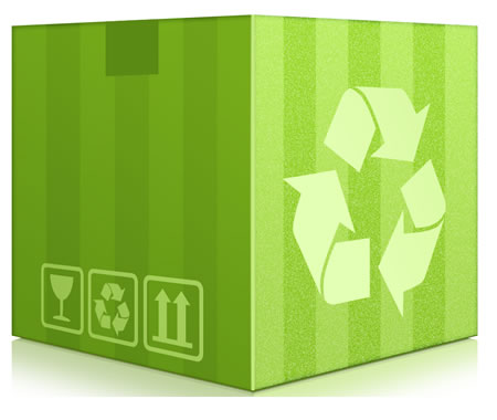 Recycling box PSD